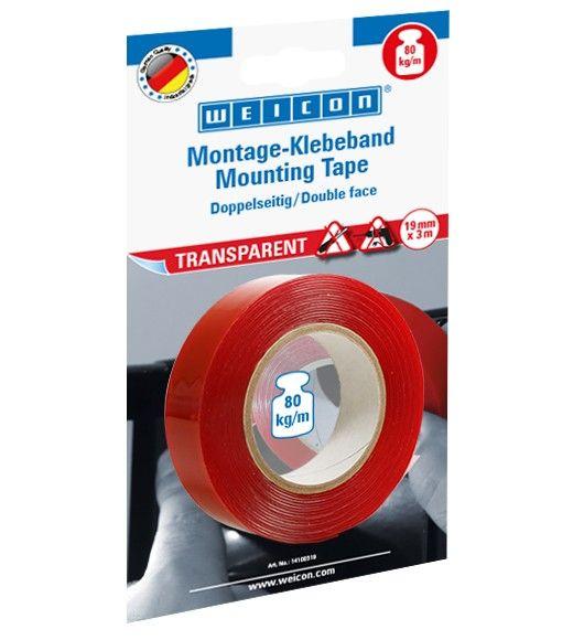 Montage-Klebeband Transparent 19mm x 300cm